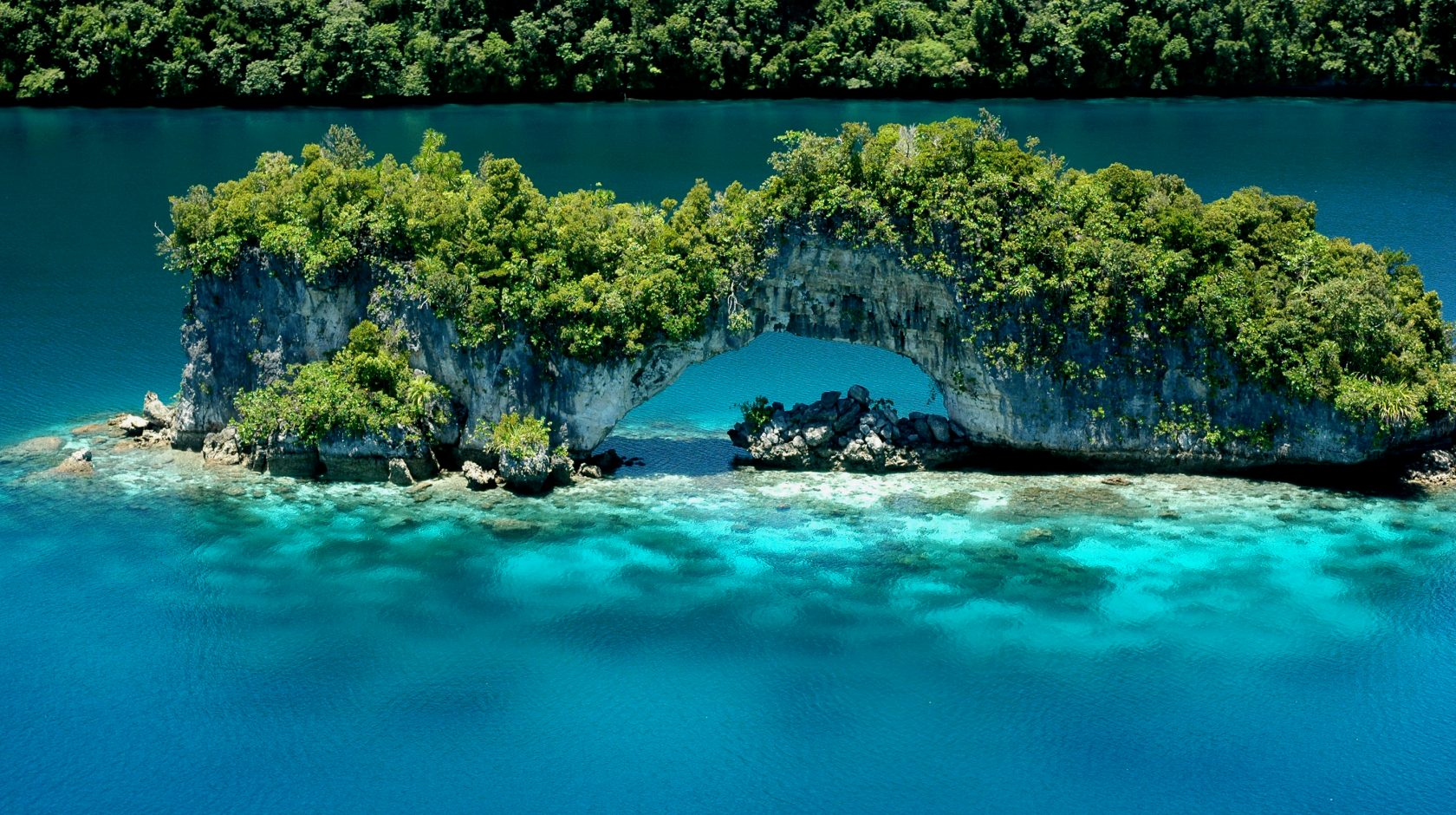 natural arch at cove resort palau