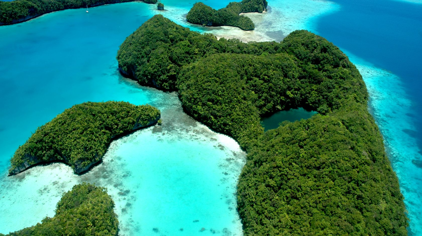 beautiful island at cove resort palau